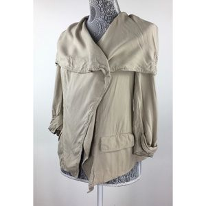 Forever 21 Women's XS Tan Twill Jacket Open Front